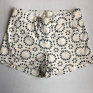 J. Crew Shorts - J.Crew || Cream & Black Geometric Pattern Shorts